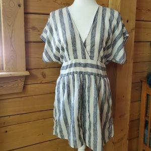 American Eagle Striped Kimono Sleeve Romper SZ L